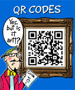 QR code cartoon